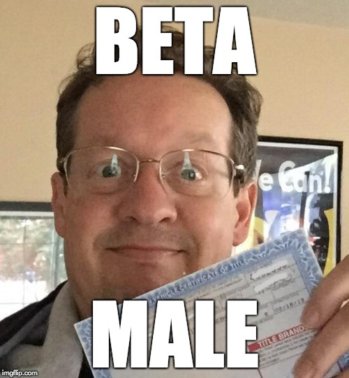 BETA MALE | image tagged in beta male | made w/ Imgflip meme maker