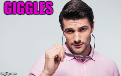 pink shirt | GIGGLES | image tagged in pink shirt | made w/ Imgflip meme maker