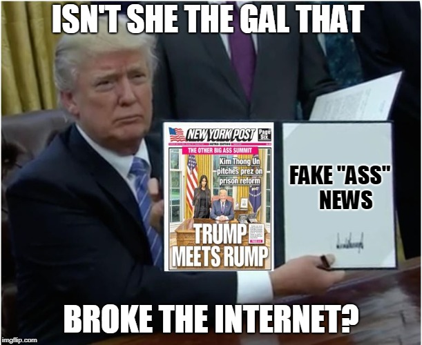 "FAKE ASS News | ISN'T SHE THE GAL THAT BROKE THE INTERNET? FAKE ""ASS""   NEWS 