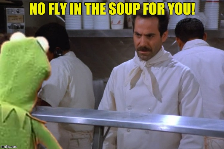 NO FLY IN THE SOUP FOR YOU! | made w/ Imgflip meme maker