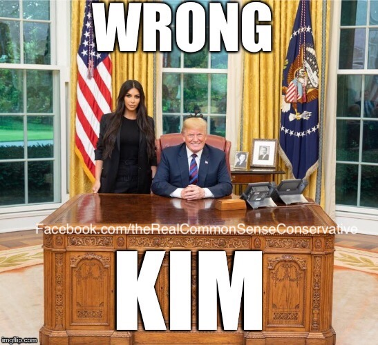 image tagged in donald trump,kim kardashian | made w/ Imgflip meme maker