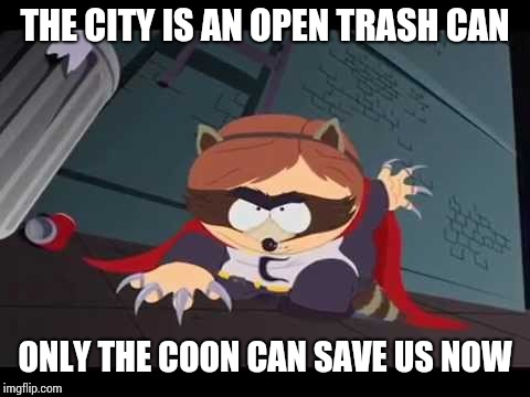 """The Coon"" superhero landing 