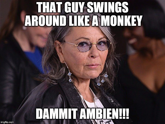 THAT GUY SWINGS AROUND LIKE A MONKEY DAMMIT AMBIEN!!! | made w/ Imgflip meme maker