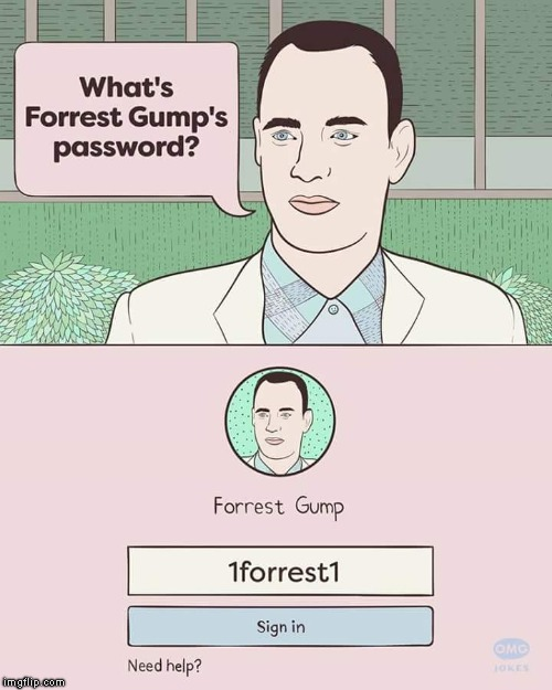 Found On The Interwebs | D | image tagged in forest gump,movies,passwords,run forest run,tom hanks,retard | made w/ Imgflip meme maker