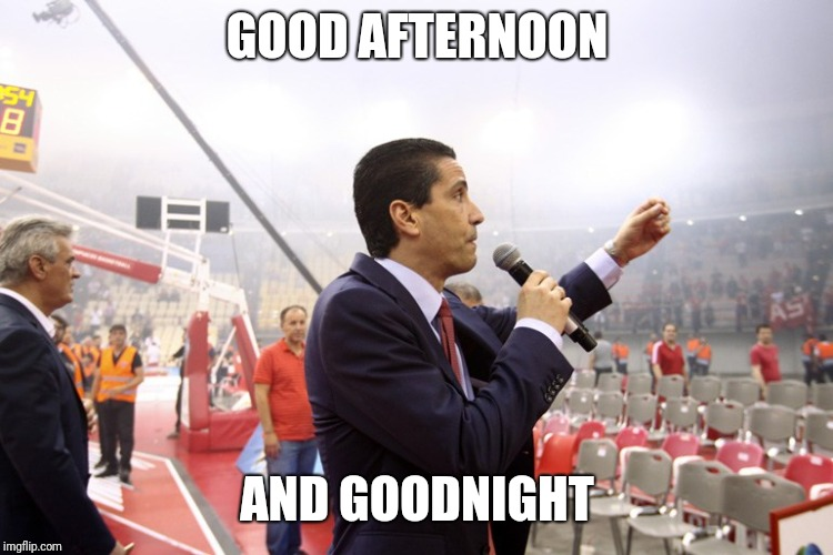 GOOD AFTERNOON AND GOODNIGHT | image tagged in bullet | made w/ Imgflip meme maker