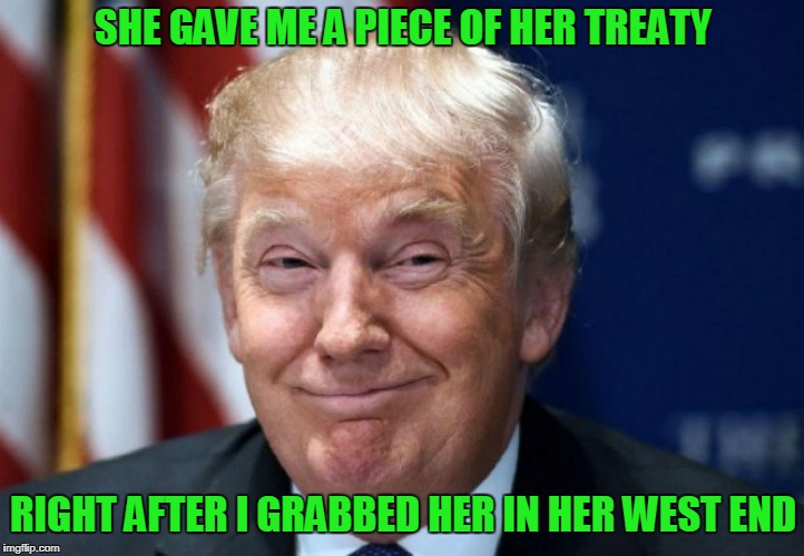 SHE GAVE ME A PIECE OF HER TREATY RIGHT AFTER I GRABBED HER IN HER WEST END | made w/ Imgflip meme maker