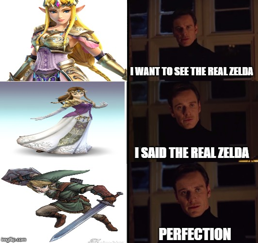 Who's Link? | I WANT TO SEE THE REAL ZELDA I SAID THE REAL ZELDA PERFECTION | image tagged in legend of zelda,zelda,link | made w/ Imgflip meme maker