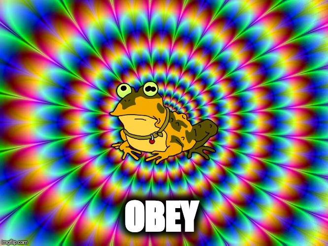 Hypnotoad knows what's best for you | OBEY | image tagged in obey | made w/ Imgflip meme maker