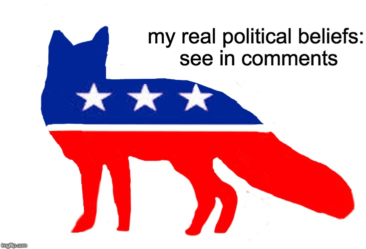 moderate left | my real political beliefs: see in comments | image tagged in moderate left,myrianwaffleev | made w/ Imgflip meme maker