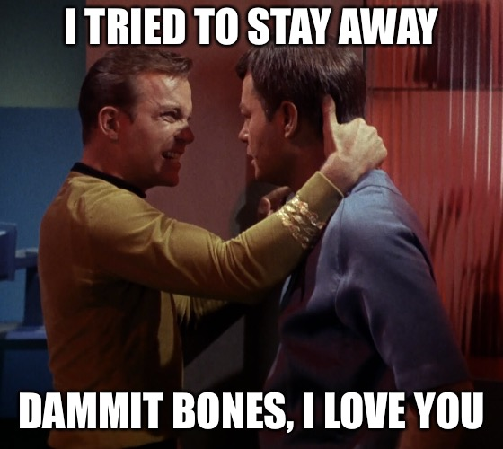 I TRIED TO STAY AWAY DAMMIT BONES, I LOVE YOU | made w/ Imgflip meme maker