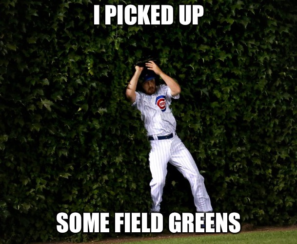 I PICKED UP SOME FIELD GREENS | made w/ Imgflip meme maker