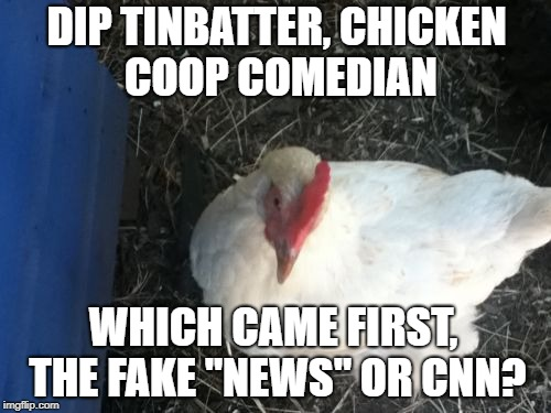 "Everyone think's they're a comedian | DIP TINBATTER, CHICKEN COOP COMEDIAN WHICH CAME FIRST, THE FAKE ""NEWS"" OR CNN? 