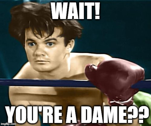 WAIT! YOU'RE A DAME?? | made w/ Imgflip meme maker