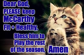 Geelong Cats Prayer Kitten - McCarthy | Dear God, Bless him to PLEASE  keep McCarthy Fit + Healthy, Play the rest of the season, Amen | image tagged in geelong cats praying kitten,geelong cats,lincoln mccarthy,memes,praying | made w/ Imgflip meme maker