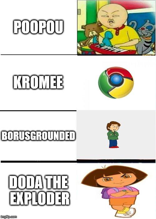 expanding brain meme poopou kromee borusgrounded doda the exploder image tagged in memes