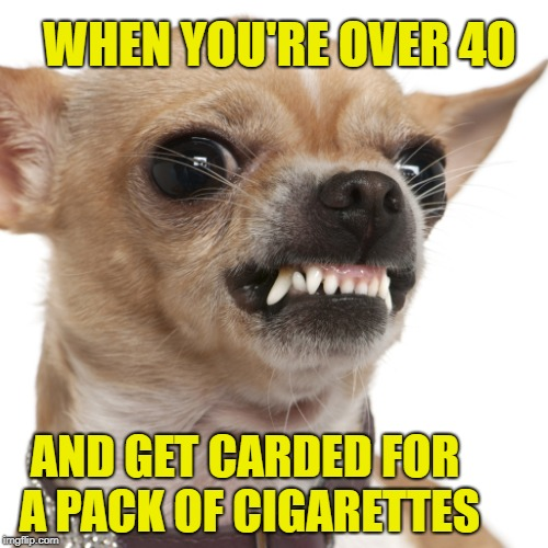 Need to see an I.D.? | WHEN YOU'RE OVER 40 AND GET CARDED FOR A PACK OF CIGARETTES | image tagged in funny memes,annoying,waste of time,go to hell | made w/ Imgflip meme maker