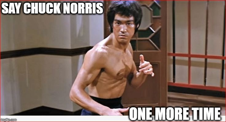 Say My Name | SAY CHUCK NORRIS ONE MORE TIME | image tagged in bruce lee,chuck norris,chuck norris approves,funny memes,meme | made w/ Imgflip meme maker