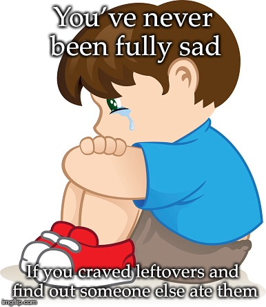 Leftovers... | You've never been fully sad If you craved leftovers and find out someone else ate them | image tagged in leftovers,sad,memes | made w/ Imgflip meme maker