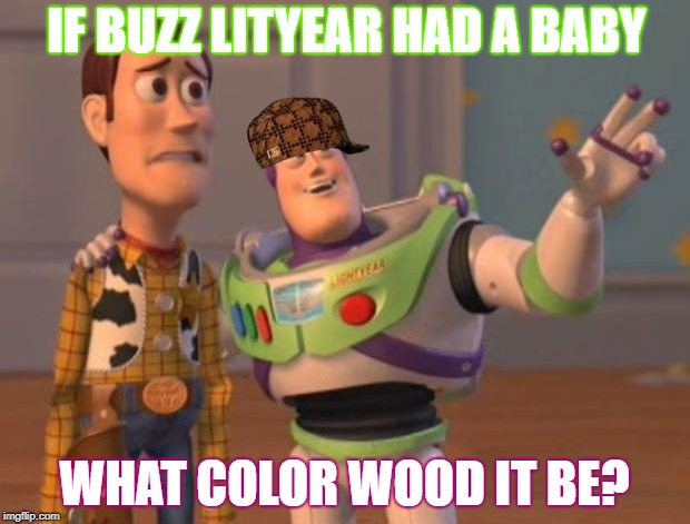 IF BUZZ LITYEAR HAD A BABY WHAT COLOR WOOD IT BE? | image tagged in toy story meme,scumbag | made w/ Imgflip meme maker