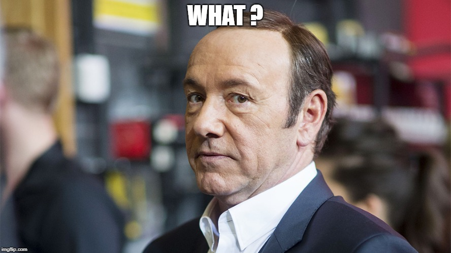 Kevin spacey | WHAT ? | image tagged in kevin spacey | made w/ Imgflip meme maker