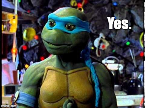 Yes. | image tagged in venus de milo tmnt mei pieh chi | made w/ Imgflip meme maker