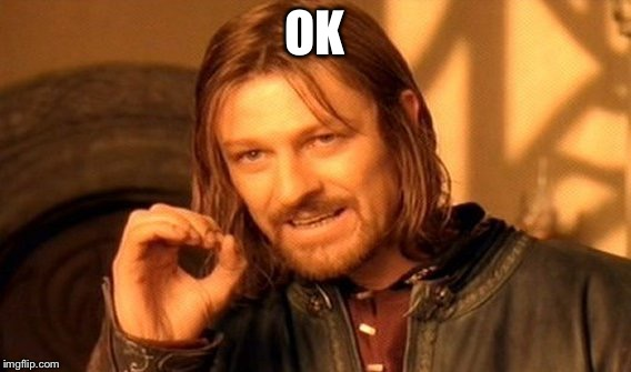 One Does Not Simply Meme | OK | image tagged in memes,one does not simply | made w/ Imgflip meme maker