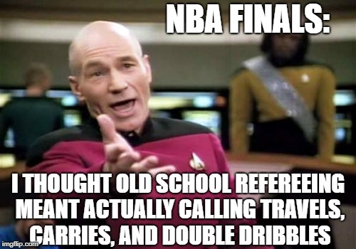"NBA Finals: Was blown call against Cavs a case of ""old-school refereeing?"" 