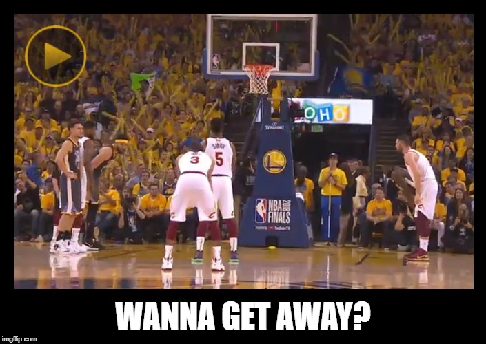 "Warriors fans scream ""MVP!"" as JR Smith attempts a free-throw 