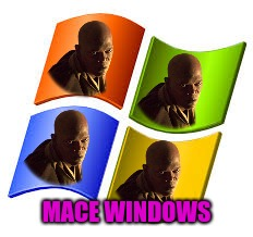 Mace Windu meme | MACE WINDOWS | image tagged in mace windu,star wars,windows,star wars meme,memes,jedi | made w/ Imgflip meme maker