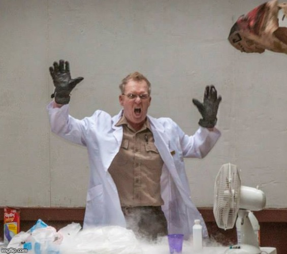Mad Scientist | image tagged in mad scientist,crazy,mad,yelling,ranger | made w/ Imgflip meme maker