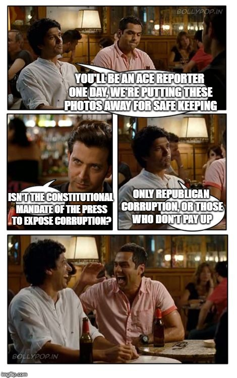 Presstitute apprentice  | YOU'LL BE AN ACE REPORTER ONE DAY, WE'RE PUTTING THESE PHOTOS AWAY FOR SAFE KEEPING ISN'T THE CONSTITUTIONAL MANDATE OF THE PRESS  TO EXPOSE | image tagged in memes,znmd,fake news | made w/ Imgflip meme maker