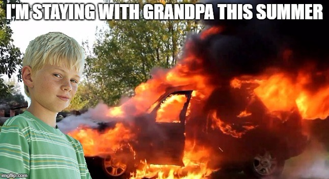 I'M STAYING WITH GRANDPA THIS SUMMER | made w/ Imgflip meme maker