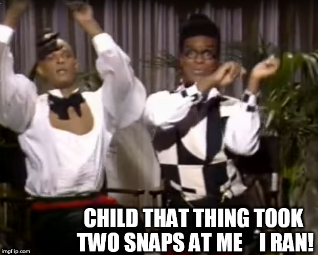 CHILD THAT THING TOOK TWO SNAPS AT ME    I RAN! | made w/ Imgflip meme maker