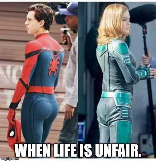 It must be tough when he has a better looking booty then you do. | WHEN LIFE IS UNFAIR. | image tagged in memes,booty compare | made w/ Imgflip meme maker