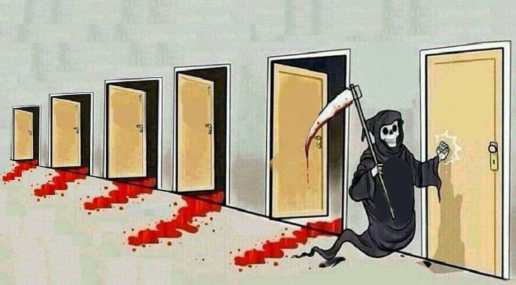 grim reaper knocking door Blank Template - Imgflip