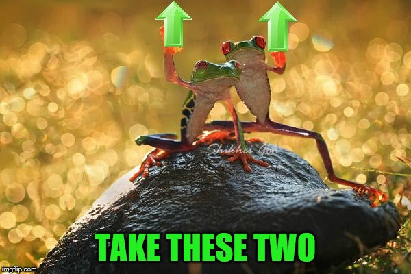 TAKE THESE TWO | made w/ Imgflip meme maker