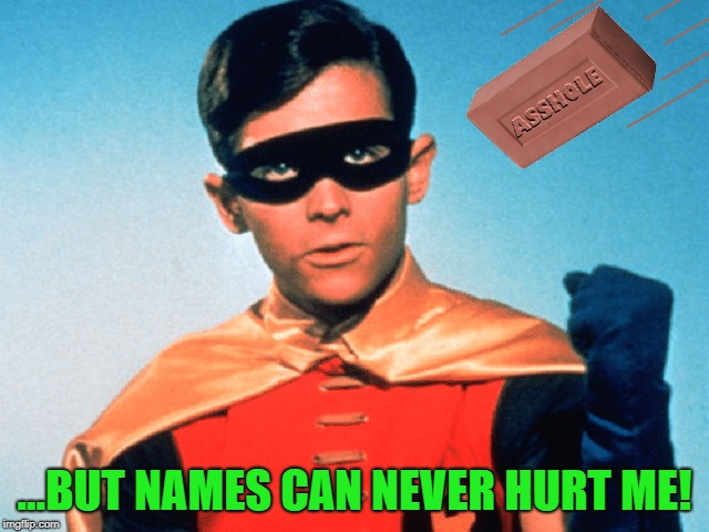 ...BUT NAMES CAN NEVER HURT ME! | made w/ Imgflip meme maker