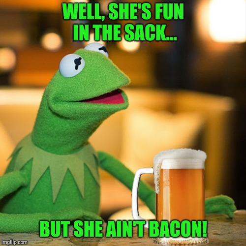WELL, SHE'S FUN IN THE SACK... BUT SHE AIN'T BACON! | made w/ Imgflip meme maker