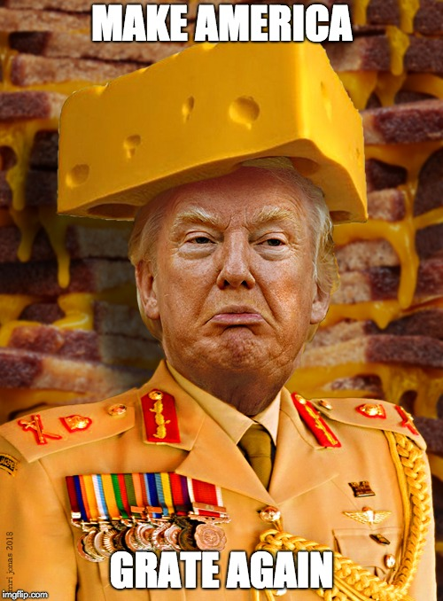 MAKE AMERICA GRATE AGAIN | image tagged in commander of cheese | made w/ Imgflip meme maker
