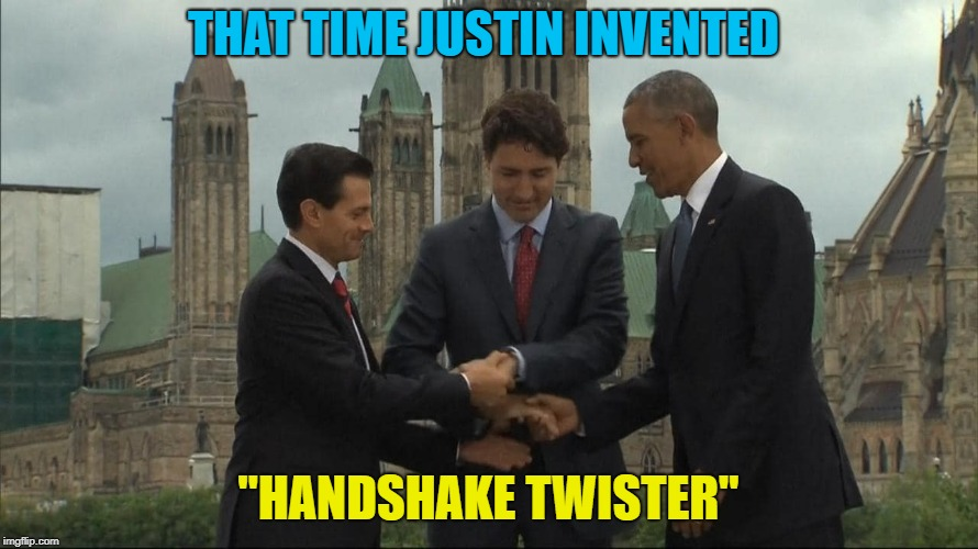 "THAT TIME JUSTIN INVENTED ""HANDSHAKE TWISTER"" 