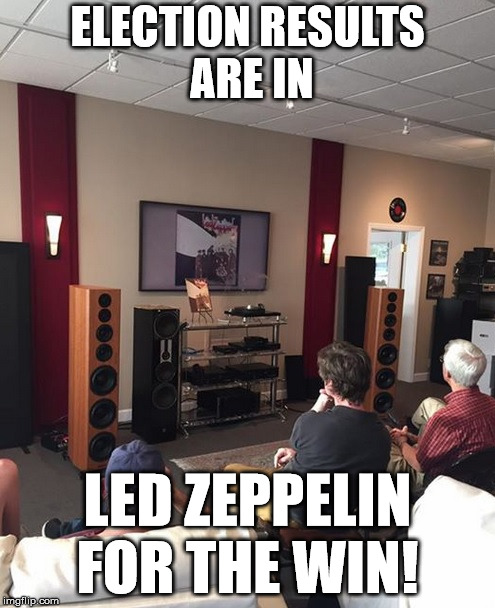 Led Zeppelin for The Win  | ELECTION RESULTS ARE IN LED ZEPPELIN FOR THE WIN! | image tagged in election,ontario election,led zeppelin | made w/ Imgflip meme maker