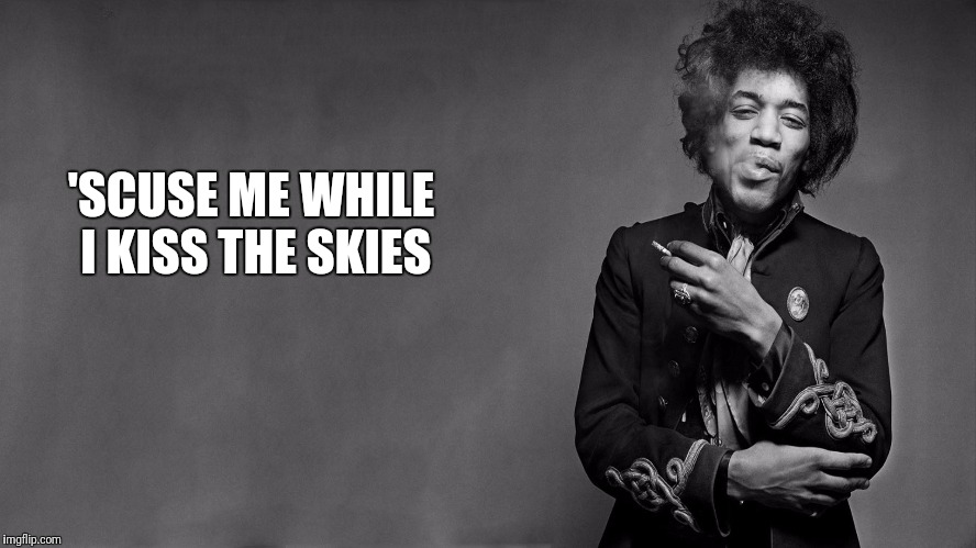 'SCUSE ME WHILE I KISS THE SKIES | made w/ Imgflip meme maker