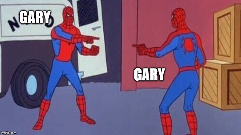 When you clone yourself and kill everyone | GARY GARY | image tagged in gary,memes | made w/ Imgflip meme maker