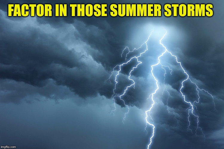 FACTOR IN THOSE SUMMER STORMS | made w/ Imgflip meme maker
