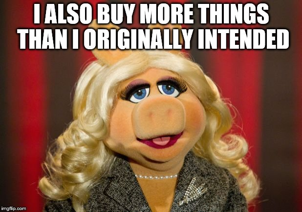 I ALSO BUY MORE THINGS THAN I ORIGINALLY INTENDED | made w/ Imgflip meme maker