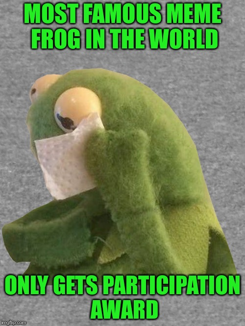 MOST FAMOUS MEME FROG IN THE WORLD ONLY GETS PARTICIPATION AWARD | made w/ Imgflip meme maker