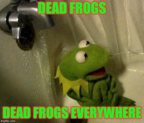 DEAD FROGS DEAD FROGS EVERYWHERE | made w/ Imgflip meme maker