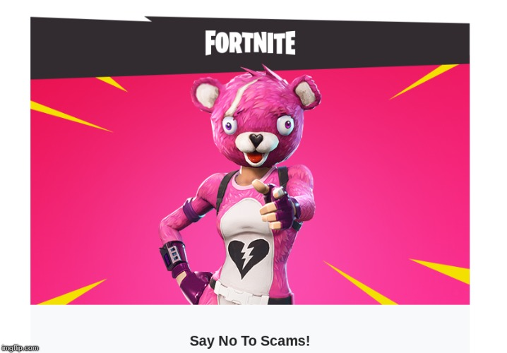 Say No To Scams! | image tagged in fortnite,scam,v-bucks | made w/ Imgflip meme maker