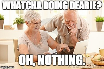 When Someone Walks in While You're Doing Dirty Stuff on Your Computer | WHATCHA DOING DEARIE? OH, NOTHING. | image tagged in harold,memes,porn,computer | made w/ Imgflip meme maker