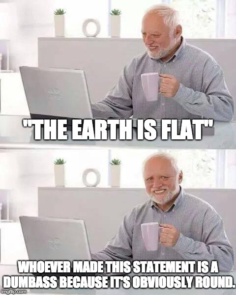 "To Flat Earthers | ""THE EARTH IS FLAT"" WHOEVER MADE THIS STATEMENT IS A DUMBASS BECAUSE IT'S OBVIOUSLY ROUND. 